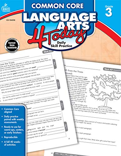 Common Core Language Arts 4 Today, Grade 3 (Common Core 4 Today) (Common Core Standards Practice Week 1 Answers)