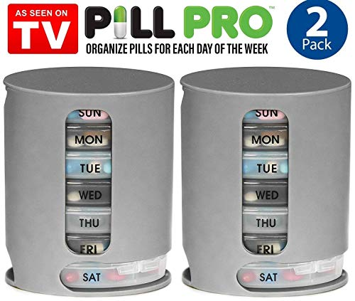 As Seen On TV Pill Pro, Weekly Pill Organizer, 2 Pack