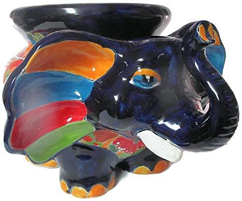 Talavera Pottery Store Elephant Michoacana Planter Hand Painted Pot Indoor Outdoor Multi Colored Figure Glazed