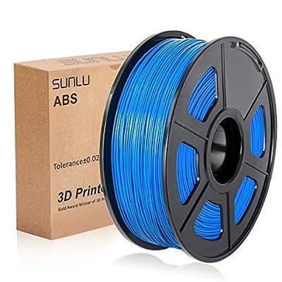 SUNLU 3D Printer Filament ABS , 1.75mm ABS 3D Printer Filament, 3D Printing Filament ABS for 3D Printer, 1kg, Blue