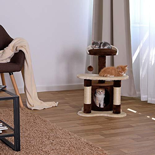 Kratzbaum, Katzenkratzbaum, Kletterbaum für Katzen, Katzenbaum, Sisal, in verschiedenen Farben (braun/beige) - 2