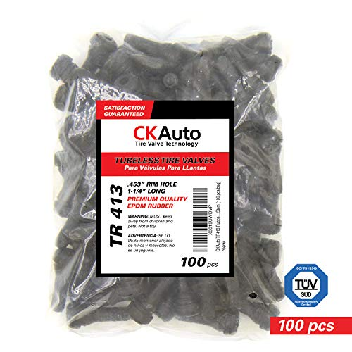 CKAuto TR413 Rubber Snap-in Tire Valve Stem (100pcs/bag)