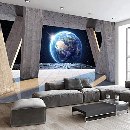3D-wandfoto, groot, vlies, decoratie voor de muur, steen-zuil, aarde, zonlicht, landschap, fotobehang 200cm*140cm