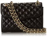 Rebecca Minkoff Quilted Mini Affair Cross-Body Handbag With Studs,Black,One Size