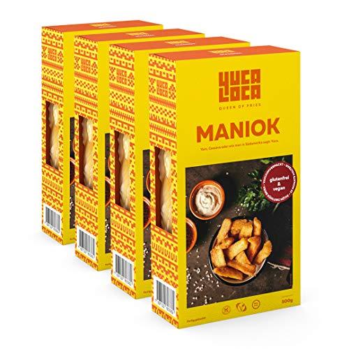 Yuca Loca - Queen of Fries | Maniok Fritten vorgegart, ohne Kühlung | 4er Pack - 500 g Packung