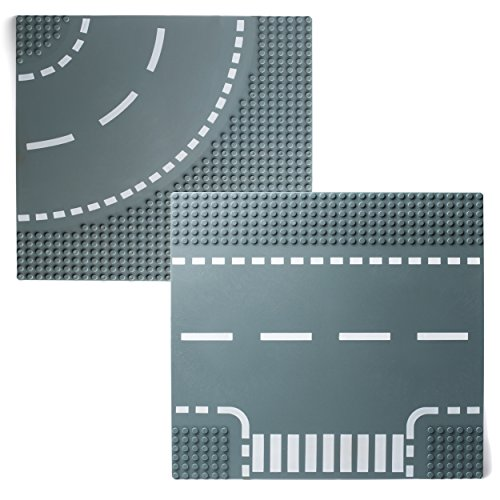 Katara 1776 - straatplaat 25,5 cm x 25,5 cm compatibel Lego, Q-Bricks, Papimax, Sluban, betongrijs