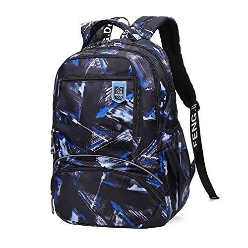 YIXIN Mochila para hombres y niños, tela Oxford, mochila de 15,6, impermeable, mochila para ordenador portátil, resistente, informal, para adolescentes, viajes, bolsa de deporte, bolsa de libros