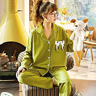 Pijamas de Mujer, Pajamas LADRES CODIDO Pure Cardigan Cardigan Servicio Inicio Persona PERSONALIZACIÓN Joven Y Personalidad DE Personalidad DE Personalidad Set Casual Home Servicio