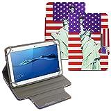 UC-Express Schutz Tasche für Huawei MediaPad M2 10.0 Hülle Tablet Schutzhülle Cover Hülle Bag USA Flagge Etui