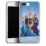 Coque en Silicone Compatible avec Apple iPhone 7 Plus Étui Silicone Coque Souple Disney La Reine des Neiges Cadeaux pour Supporters