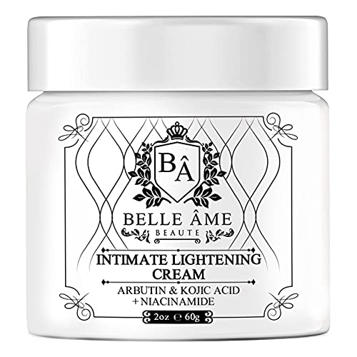 Intimate Skin Lightning Cream - Belle Ame - Amal Bleach Cream -Dark Spot Corrector For Anywhere on your Body - Underarms, Knees, Thighs, Elbows, Buttocks, Private Parts (2oz)