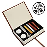The Rose Wax Seal Stamp Set, Yoption Classic Vintage Seal Wax Stamp Set, Retro Seal Stamps Maker Gift Box Set (The Rose #3)