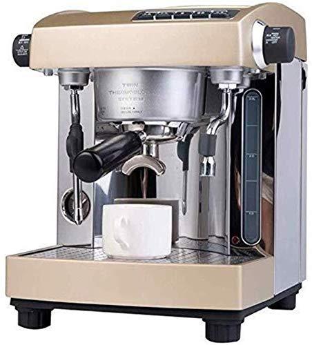 COOLSHOPY El Tanque de Agua máquina de café Comercial Inicio 15bar de Dos Bombas de Gran Capacidad Sistema 3L
