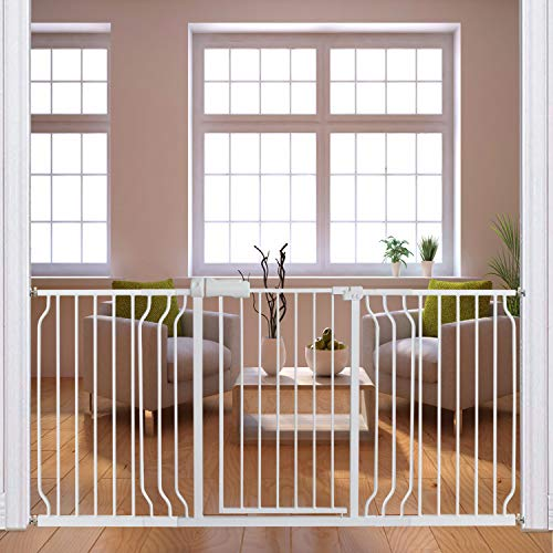 Fairy Baby Extra Wide Baby Gates 67-71.5 Inch, Auto Close Child Safety Gates for Stairway Banister Doorways Hallway,Indoor Safety Child Gates for Kids or Pets