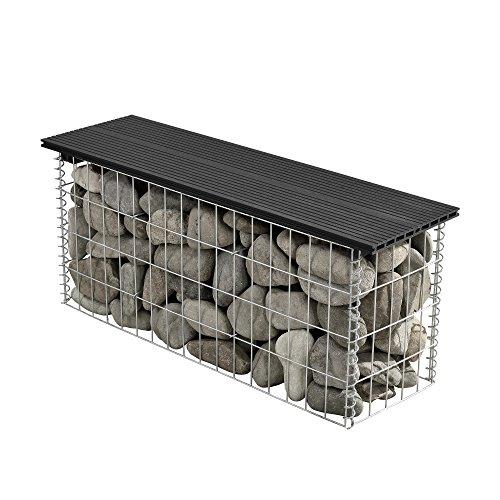 [pro.tec] Schanskorven - steenkorf zitbank - WPC - zwart