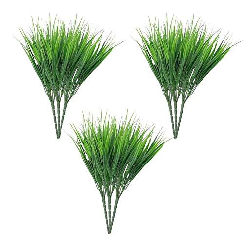 Kunstbloemen Voor Bruiloft 15st Kunstplanten Plastic Plant Struiken Groen Heesters Groen Gras Kantoortuin