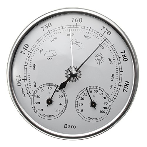 ILS - 130mm 970~1040hPa muur opknoping weerstation Thermometer Barometer Hygrometer