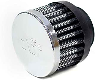 K&N 62-1380 Vent Air Filter / Breather: Vent Air Filter/ Breather; 1.25 in (32 mm) Flange ID; 2.5 in (64 mm) Height; 3 in (76 mm) Base; 3 in (76 mm) Top