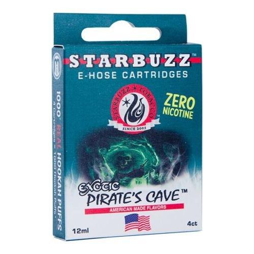 FumandoEspero 4 Cartuchos de Sabores Starbuzz E-Hose Pirate'S Cave (Pack de 12 ml) SIN NICOTINA