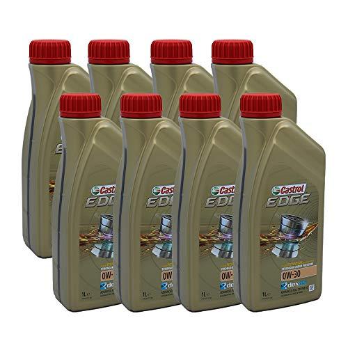 LUBRIALPHA Castrol Edge 0W 30 Olio Motore per Auto Sintetico Confezione da 8 Litri