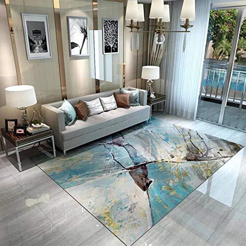 PLBB3K Alfombras Moderna Minimalista Alfombra de Tinta Abstracta salón nórdica casa Rectangular Dormitorio Mesa de café @ 200 300cm * Alfombra mantaa (Size : 200 * 300cm)