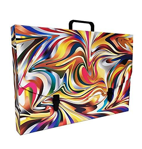 Valigetta scuola in Plastica 100% riciclabile stampata in alta qualità, misure 56X37X5 cm (COLOURS)