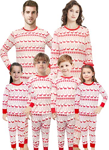 Christmas Family Matching Pajamas Set Santa's Deer Sleepwear Dad Size M