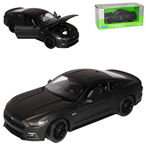Welly Ford Mustang VI Coupe Matt Schwarz Ab 2014 1/24 Modell Auto