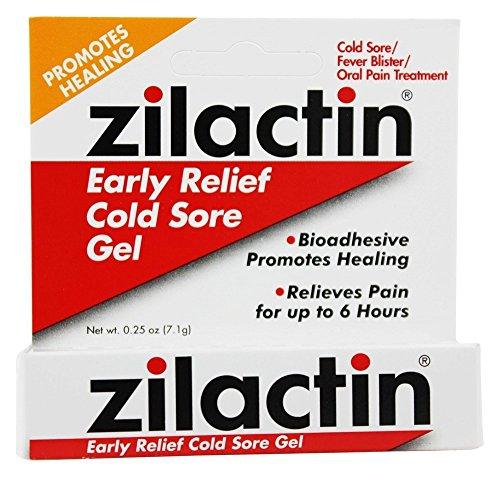 Zilactin Cold Sore Gel Medicated Gel 025 oz