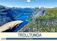 Trolltunga (Wandkalender 2022 DIN A4 quer): Eine anspruchsvolle Wanderung mit einer einzigartigen Aussicht. (Monatskalender, 14 Seiten )