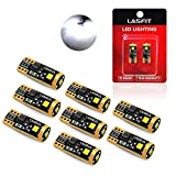 2012 Ford Fusion License Plate Light Bulbs - LASFIT194 168 LED Bulbs 6000K White 2825 W5W T10 3030 Chipsets LED Bulbs for Car Dome Map Door Courtesy License Plate Lights, Pack of 8
