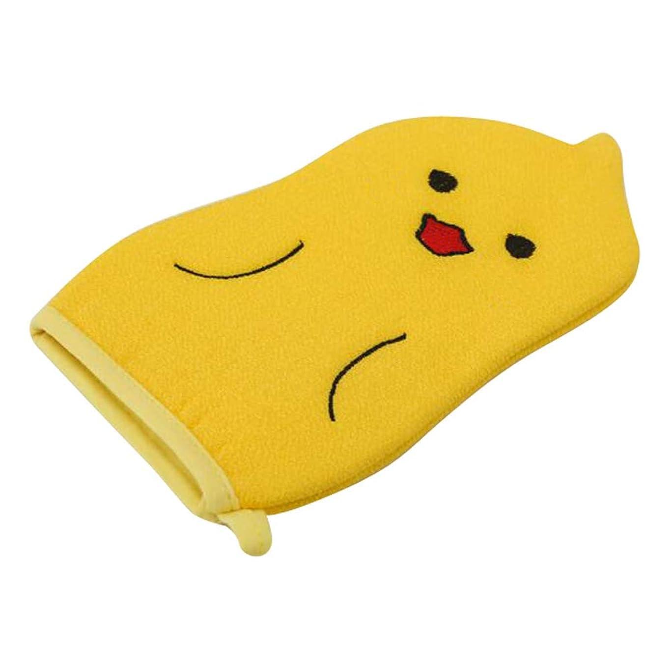 カロリー火炎実質的子供用バスタオル、赤ちゃんかわいい漫画角質除去バス手袋、C01