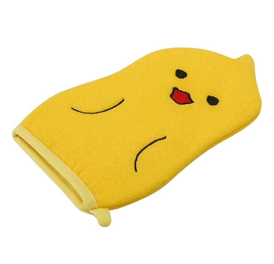 ポータル条約異形子供用バスタオル、赤ちゃんかわいい漫画角質除去バス手袋、C01