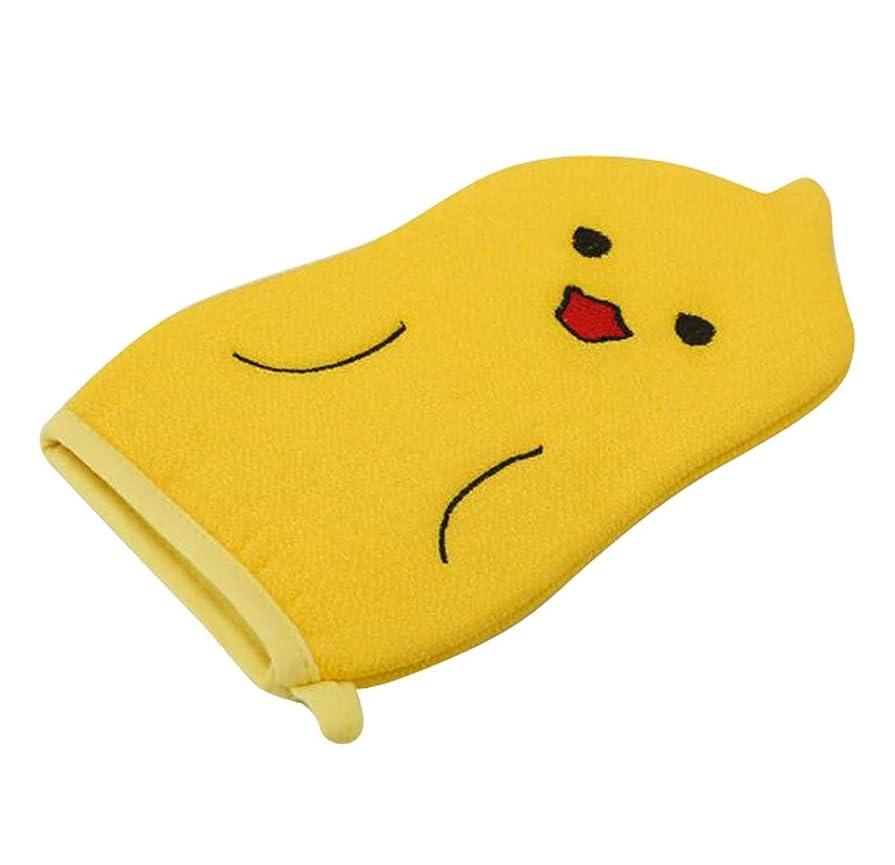 最後のはぁ加入子供用バスタオル、赤ちゃんかわいい漫画角質除去バス手袋、C01