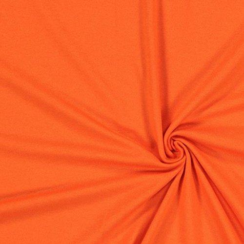 Fabulous Fabrics Leichter Viskosejersey - orange - Viskose Jersey Stoff zum Nähen von Kleidern, Blusen, Shirts und Röcken - Meterware ab 0,5m