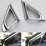 Coche 2unids/Set Interior del Coche triángulo Puerta Sonido estéreo Altavoz de Audio Marco embellecedor Pegatina Estilo, para Suzuki Vitara 2016 ABS