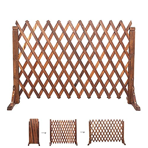 JHHL Garden Fencing,Expanding Garden Fence Animal Barrier, Freestanding Wooden Lattice Panels for Outside,AS Privacy Fence Screen/Garden Fence Border (Size : 70x160cm)