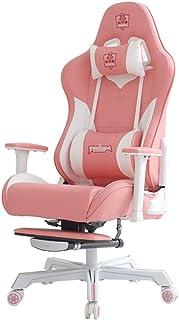 Silla Gaming Silla Silla Juego del Rosa de Ordenador Personal de Anclaje for sillas de Gaming Chair Silla de Oficina (Color : Rosado, Size