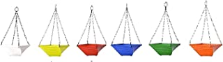 MB Traders Twister Hanging Pots - A Set of 6 Multicolored