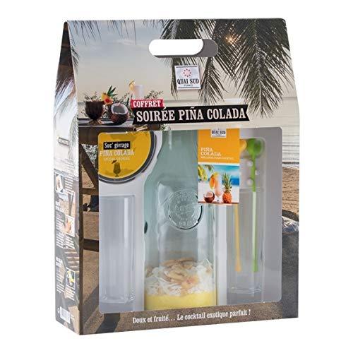 TotalCadeau - Juego de mezcla y accesorios para piña colada y 2 vasos