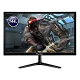 Monitor de 144 Hz, monitor de PC de 21,5 pulgadas, 1920 x 1080, con interfaces HDMI y DP, brillo de 250 cd/m², tiempo de respuesta de 5 ms, monitor de gaming para ordenador portátil PS4, prechen