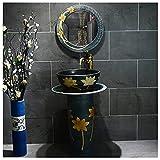 YRRA Juego de Mueble de Baño Lavabo de cerámica Lavabo con Mueble bajo para Lavabo, para Invitados, baño Armario Aseo Mobiliario