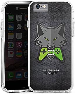 DeinDesign Apple iPhone 6s Bumper Hülle transparent Bumper Case Schutzhülle VFL Wolfsburg Esport Merchandise Fanartikel