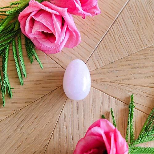 Oeuf en Quartz Rose - petit - troué