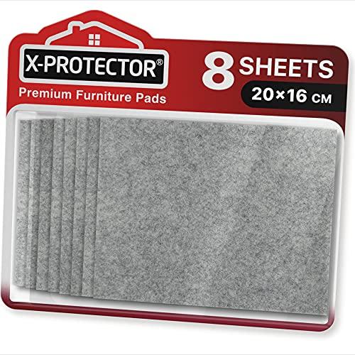 Fieltro adhesivo X-PROTECTOR - Deslizadores para muebles - 8 Premium fieltro autoadhesivo...