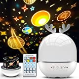 Night Light Projector for Kids, Star Projector Light, Baby Night Lamp with Musicbox, 360° Rotation Nursery Night Light for Baby, Best Birthday Gifts for 1-14 Year Old Girls Boys, Room Lights for Kids