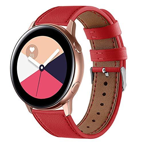 XZZTX 20 mm Bandes en Cuir de Remplacement Bracelet Bandeaux Compatible avec Galaxy Regarder Actif/Galaxy Montre 42mm / Garmin VivoActive 3 / Vivomove HR Montre Smart Watch