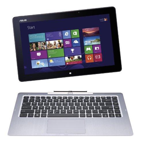 Asus Transformer Book T300LA-C4007P, Notebook Convertibile in Tablet, Processore Intel Core i7, Display 13.3 Pollici FullHD, TouchScreen, RAM 4 GB, SSD 128 GB, Doppia WebCam, Windows 8 Pro, Argento/Antracite