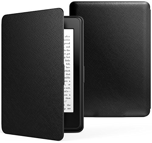 MoKo Kindle Paperwhite Funda - Ultra Slim Ligera Smart Shell Case Cover con Auto Estela / Sueño para Amazon All-New Kindle Paperwhite ( Ambos 2012, 2013, 2015 y 2016 Versións ), No es compatible para All-new Paperwhite 10th generation 2018 Negro