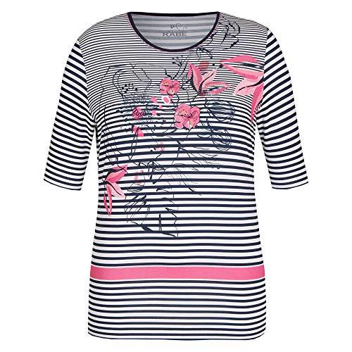 Rabe Damen T-Shirt gestreift Marine blau/Weiss/pink - 44